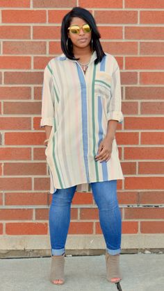 Hey loves, I hope you all had an awesome day. Today's style consist of my favorite combos, Muted colors and stripes. I spied my oversized sh...