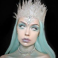 (notitle) – O:Costumes White Witch Costume, White Queen Costume, Snow Queen Costume, Queen Halloween Costumes, Halloween Tags, Halloween Makeup Looks, Ice Princess Costume, Snow Makeup, Ice Makeup