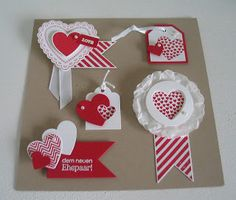Stampin with Beemybear: Teamtreffen - unsere Card Candys - Scrapbooking Tarjetas Stampin Up, Stampin Up Cards, Valentine Day Crafts, Love Valentines, Birthday Crafts, 90th Birthday, Candy Cards, Scrapbook Embellishments, Craft Party