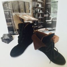 "LowestNew Ankle Boots ""Unique Style"" Black Sz.7 New. Has inside insulation (faux fur). Super comfy. With a feminine touch. Shoes Ankle Boots & Booties"