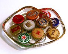 Beer Bottle Cap Coasters  Set of 4 von Zipper8Design auf Etsy
