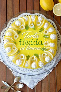 Sprinkles Dress: Torta al limone Sweet Recipes, Cake Recipes, Sprinkles, Cream Cheese Recipes, Sorbet, Cheesecake, Delicious Desserts, Cake Decorating, Food And Drink