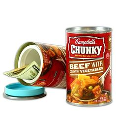 Can Safe, Can You Can, Campbell's Chunky Soup, Diversion Safe, Hide Money, Household Items, Coffee Cans, Dog Food Recipes, Beef
