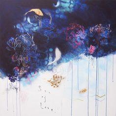 """Saatchi Art Artist Ele Pack; Painting, """"Sea of Love"""" #art"""