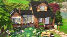 Sims 3, Sims 4 Mods, Sims 4 House Plans, Sims 4 House Building, Sims 4 Houses Layout, House Layouts, The Sims 4 Lots, Muebles Sims 4 Cc, Cute Minecraft Houses