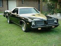 Pontiac Grand Am El Camino. My Maw Maw had a car like this. I guess it runs in our blood. Pontiac Grand Am, Pontiac Lemans, Pontiac Cars, Lemans Car, Custom Trucks, Custom Cars, Monte Carlo, Classic Trucks, Classic Cars
