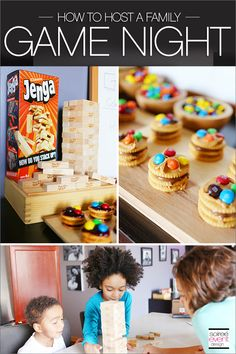 | Host a Family Game Night In Party with Yummy Snacks! | http://soiree-eventdesign.com  #GameNightIn #ad