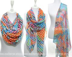Chevron Scarf Orange Blue Green Zigzag Scarf Winter by  #escherpe #scarves #scarf #shawl #shawls #wrap #wraps #tartan #plaid #check #summer #trend #spring #women #fashion #accessories #holidays #holiday #christmas #gift #gifts #outfit #accessorize #style #stylish #love #cobalt #me #cute #valentines #nails #floral #beauty #beautiful #paisley #beige #pretty #chevron #pink #yellow #wine #green #shoes #zigzag #ivory #shopping #trend #trending #winter #polka #blanket #tassel