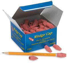 Pink Pencil Top Erasers