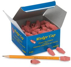 Pink Pencil Top Erasers