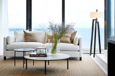 For us mere mortals, the dream of a beach house is enough to keep us going all summer. But should you actually find yourself lucky enough to own a seaside getaway, take a cue from these 13 summery, celebratory, and definitely tasteful decorating ideas Decorating Blogs, Interior Decorating, Interior Design, Interior Photo, Outdoor Sofa, Outdoor Furniture Sets, Seaside Getaway, Striped Walls, Beach House Decor