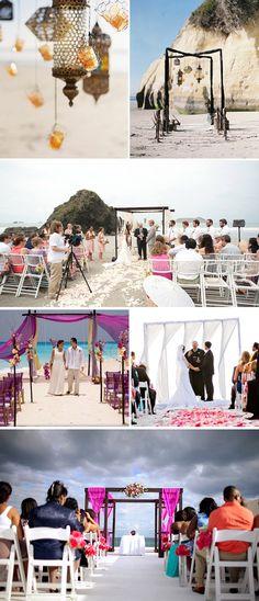 Beach Wedding Ceremonies | The Destination Wedding Blog - Jet Fete by Bridal Bar