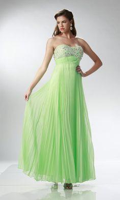 Mint Flowy Pleated Dress