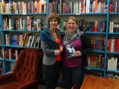 Stella Harvey with her knitter Monica. People's Co-op Bookstore, Vancouver, B.C. May 28, 2013.