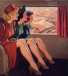 1940s-Wartime-Fashion---Liquid-stockings