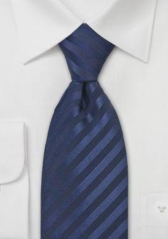 Elegant Dark Navy Silk Tie | Bows-N-Ties.com