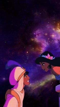 Aladdin and Jasmine wallpaper for iPhone 5