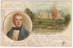 Writer and poet Sir Walter Scott  Antique dutch victorian postcard 1899