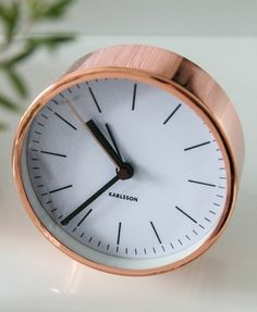 Cool Alarm Clock dekoartikel classic modern copper color