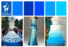 Bright Blue Wedding Inspiration Colour Board | Designcat Colour Inspiration Pallet