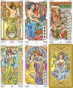 商品詳細|カードの履暦はタロットカード・オラクルカード・トランプ・かるたなど、界各国の希少なめずらしいカードも数多く取り揃えています。専門店ならではの品揃えで、お好みのカードがきっと見つかります。 Antonella・カステリ が描いた女性に人気のあるアールヌーヴォ調のタロット。植物や花を利用た曲線を多用し、美しいくやわらかなデザインを実現している。人気作。カードのタイトルは6カ国語で示されている。裏模様がカラー化された新版。 オール絵札。 78枚 サイズ〔120×66〕 英語、イタリア語、スペイン語、フランス語、ドイツ語、ポルトガル語各10ページ程、合計63ページ解説付き。 [イタリア・LO SCARABEO社製]
