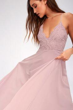 Dusty Purple Dress, Taupe Maxi Dress, Chiffon Maxi, Lace Maxi, Maxi Wrap Dress, Dress Lace, Lavender Lace Dress, Year 10 Formal Dresses, Cute Prom Dresses