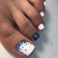 There are many toe nail designs to provide only the freshest ideas to your attention. Get These Amazing Toe Nail Colors To Choose In Toe Nails White, Gel Toe Nails, Pretty Toe Nails, Feet Nails, Toe Nail Art, My Nails, Acrylic Nails, Simple Toe Nails, Feet Nail Design