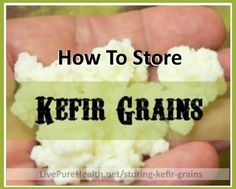 Easy Method for Storing Kefir Grains. Step by Step instructions with photos, here is how I do it. This is how I kept my Kefir alive for YEARS!