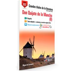 Don Quijote de la Mancha (II). ED/Quijotes/2015/18 V.2 Dom Quixote, Cover, Books, Stains, Second Language, Spanish Worksheets, Teaching Resources, Learn Spanish, Teachers