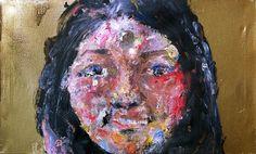 cm, oil, stencil and assambladge on canvas, 2015 Stencils, Portraits, Oil, Canvas, Painting, Tela, Head Shots, Painting Art, Canvases