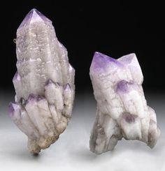 Two Amethyst Crystal Clusters B30
