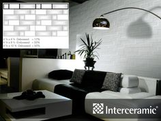 Interceramic is a world leader in Ceramic, Porcelain and Natural Stone tiles used in floor and wall applications. 3d Tiles, Ceramic Wall Tiles, Tile Layout, Tile Patterns, Pattern Ideas, Tile Installation, Stone Tiles, Tile Design, Brick Wall
