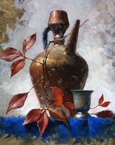 Autumn Jug by David Cheifetz Oil ~ 10 x 8