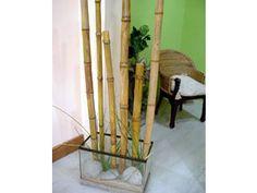 Cañas de bambú con tubos de cartón:   unir los tubos entre sí con cinta de enmascarar. Para realizar los nudos de la caña, cortar tramos de cordón y pegarlos sobre ella con cola vinílica. Dar una o dos vueltas, de acuerdo al grosor deseado. La distancia entre un nudo y otro es de aproximadamente de 40 a 45 cm. Endurecer la caña utilizando la técnica de cartapesta,