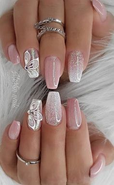 Really Sweet Glitter Nail Designs! You will .- Really Sweet Glitter Nail Designs! You will love this part 23 – Really Sweet Glitter Nail Designs! You will love this part Glitter nail art; Bright Nails, Shiny Nails, Glam Nails, Cute Nails, Pretty Nails, Cute Spring Nails, Summer Nails, Pastel Nails, Spring Nail Art