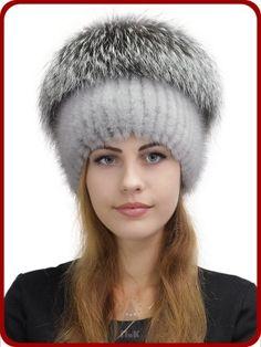Шапка Ироида - Женские шапки - Из вязаной норки