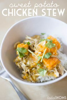 Slow Cooker Sweet Potato Chicken Stew - Total Noms www.totalnoms.com