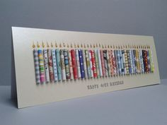 Large 40th Birthday Candle Card Can be Personalised. by GurdGifts