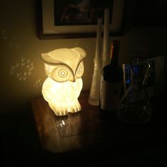 OWL LIGHT- for baby room and can grow with him. Not to baby-ish