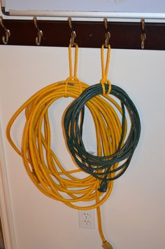 Best way EVER to organize your cords and air hoses extension...cost you a dime...literally