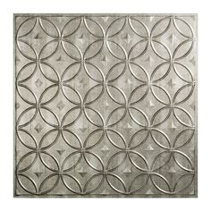 Fasade Rings Crosshatch Silver 2' x 2' Lay-in Ceiling Tile | Overstock.com Shopping - The Best Deals on Ceiling Tiles