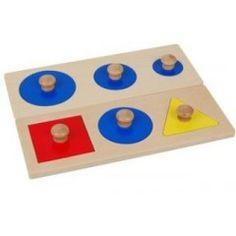 Encastrements 6 formes géométriques | Premier âge | Matériel Montessori