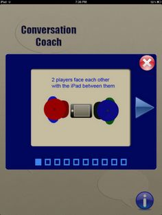 Conversation Coach App- great app for conversational skills. From Speech Time Fun. Pinned by  SOS Inc. Resources.  Follow all our boards at http://pinterest.com/sostherapy  for therapy   resources.