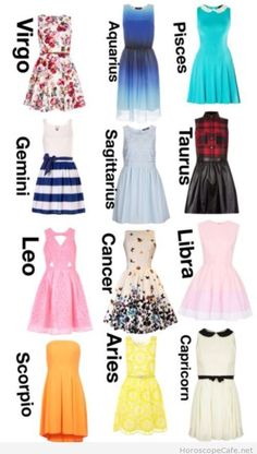 Prom dress zodiac sign by month