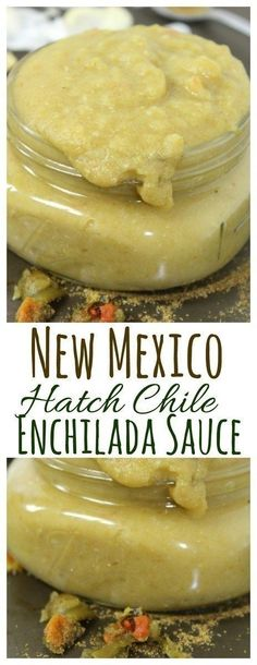 Cook up this easy Homemade New Mexico Hatch Chile Green Enchilada Sauce with roasted Hatch green chiles and you will never go back to canned enchilada sauce! (Vegan Sauce And Dressings) Best Enchilada Sauce, Green Chile Enchilada Sauce, Recipes With Enchilada Sauce, Sauce Recipes, Hatch Green Chili Recipe, Green Chili Recipes, Mexican Food Recipes, Hatch Chili, Mexican Dishes