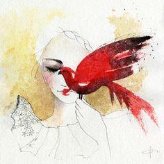 Watercolor art by Blule