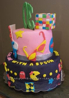 Coolest 1984 Retro Cake... Coolest Birthday Cake Ideas