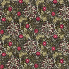 The Original Morris & Co - Arts and crafts, fabrics and wallpaper designs by William Morris & Company | Products | British/UK Fabrics and Wallpapers | Morris Seaweed (DM3P224471) | Archive III Prints