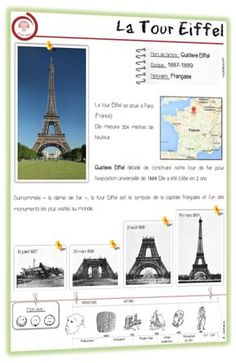 Photos of Eiffel Tower being built etc. Will be useful next term. Photos of Eiffel Tower being built etc. Will be useful next term. Cultural Architecture, Education Architecture, Tour Eiffel, French Days, Around The World Theme, French Expressions, French Lessons, School Themes, Teaching French