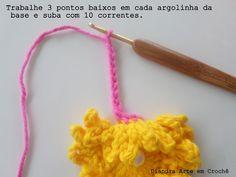 Diandra Arte em Crochê: PAP FLOR MARAVILHA